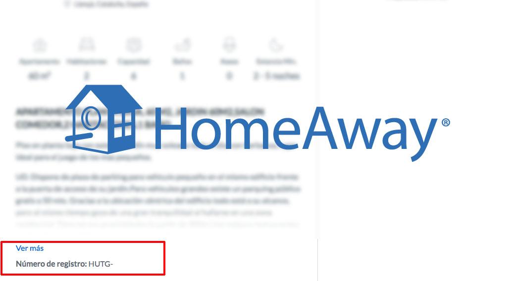 HomeAway.es eliminará todos los anuncios de propiedades en Cataluña que no muestran su número de registro