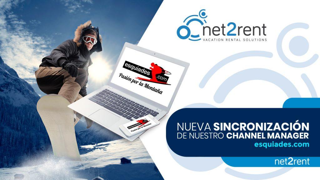 """Esquiades, nueva sincronización """"de montaña"""" en net2rent."""