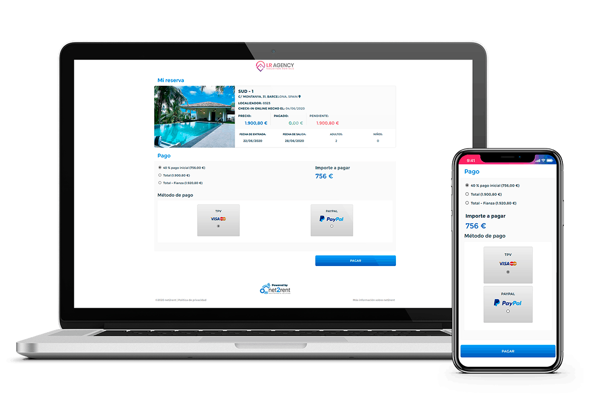 Área del Huésped - Check-in Online de net2rent