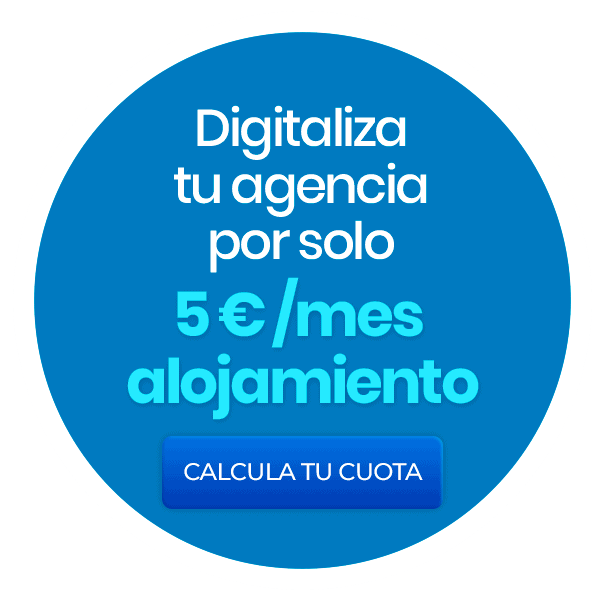 Digitise your agency for only 5 euros/month of accommodation. Calculate your fee.