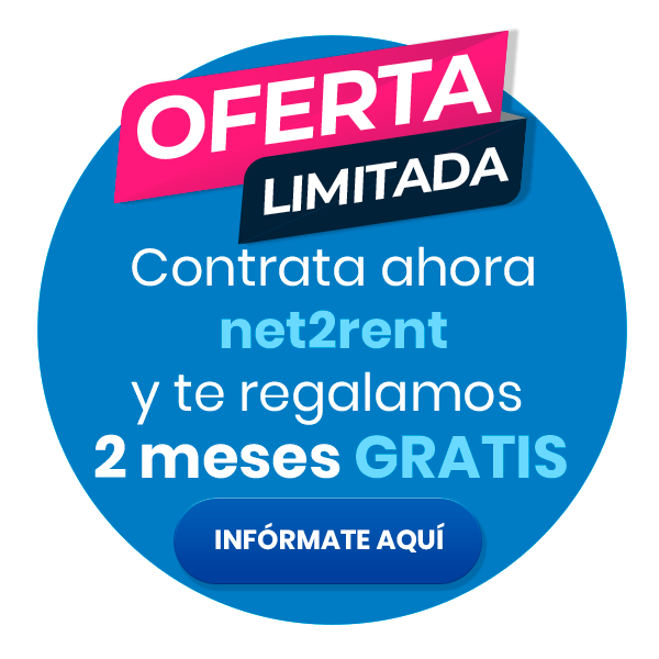 Contracta ara net2rent i et regalem 2 mesos gratis.