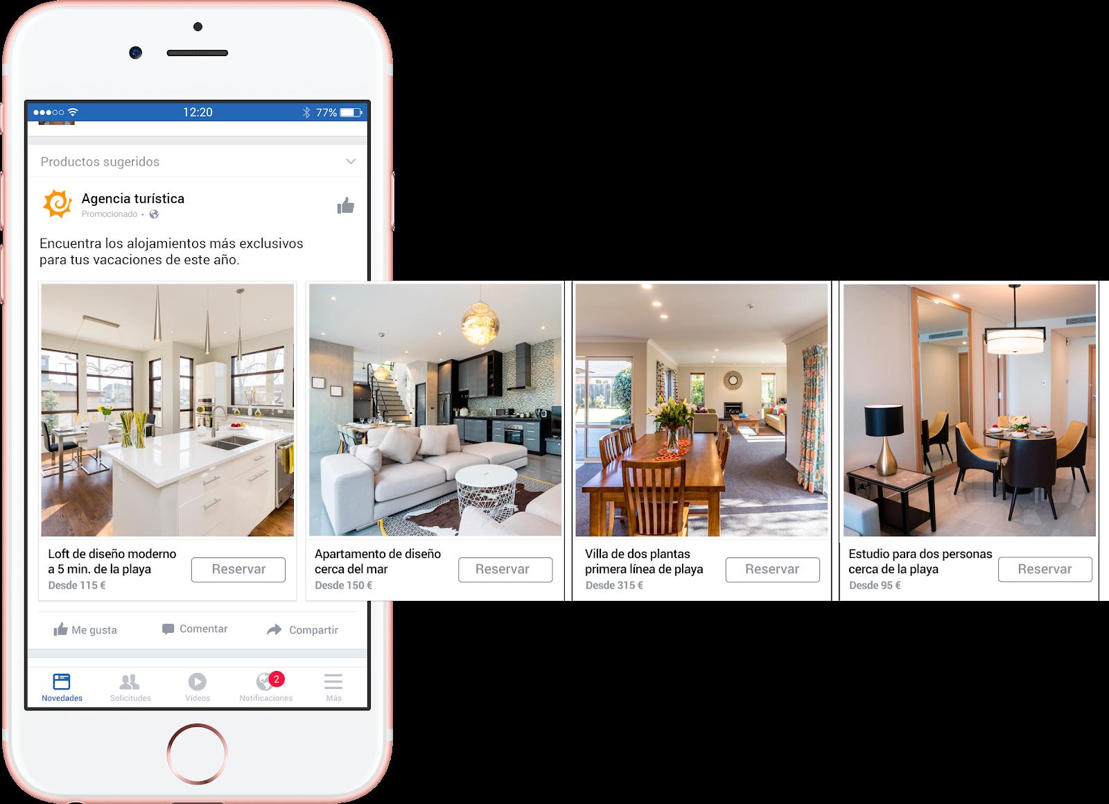 ¿Cómo hacer remarketing dinámico con Facebook y net2rent? - net2rent - Software de Alquiler Vacacional