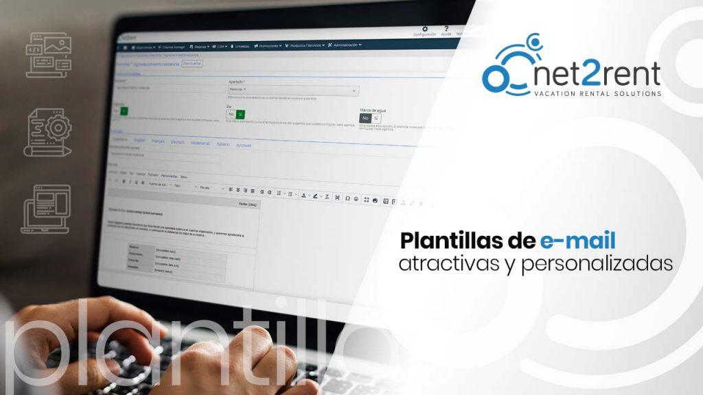 Plantillas de e-mail atractivas y personalizadas - net2rent - Software de Alquiler Vacacional